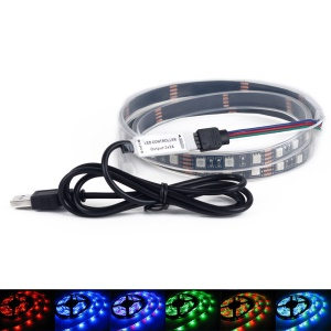 YOUOKLIGHT YK2275 5V USB 1M RGB Flexible LED Light Strip Ribbon Light with 24 Keys Remote Controller