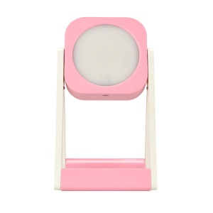 Creative Mini LED Lighted Makeup Mirror Table Lamp Exquisite  Cosmetic Mirror Light (CE,RoHS,FCC) - Pink