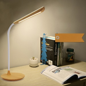 Wooden Texture USB Rechargeable Night Light Eye Protection LED Table Lamp