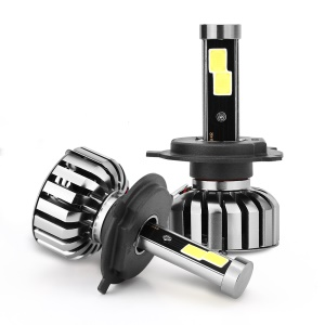 One Pair H4 N7 80W 8000LM 6000K Cool White LED Car Headlight
