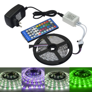 JIAWEN 5M 300 x 5050 SMD RGBW LED Flexible Strip Light avec 44 touches de contrôleur à distance