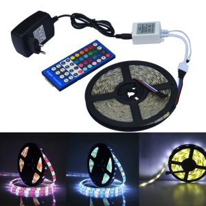 JIAWEN 5M 300 x 5050 SMD RGBW Waterproof LED Flexible Strip Lights with 44 Keys Remote Controller