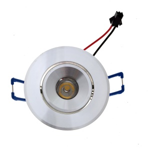 YK4403 1W Warm White LED Downlight Ceiling Lamps AC85-265V - Silver / Warm White