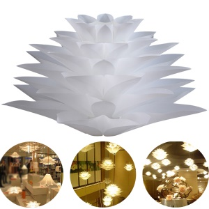 YK2224 Lotus Shaped Chandelier Ceiling Pendant Lampshade (Light Lamp not included) - White