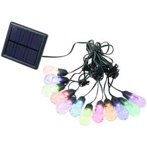 12-LED Balls Solar String Light Waterproof Patio String Light Outdoor Wedding Party Christmas Light
