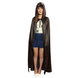 Adults Cosplay Cape Hooded Cloak Halloween Costume Prop (M Size) - Coffee