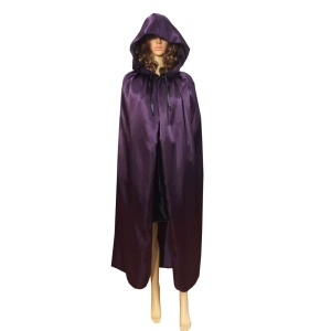 Halloween Adult Role Play Costume Witch Cloak Hooded Cape, Size: XL - Grey