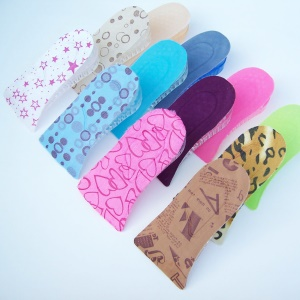 2-Layer Half Elevator Insole Silicone Increased Insoles Shoe Pads - 4cm