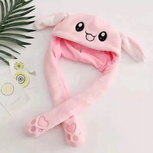 Rabbit Hat Ear Hat Funny Bunny Plush Hat Cap - Pink