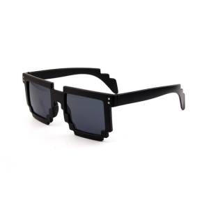 Mosaic Pattern Fashion Sunglasses PC Frame Sun Glasses - Black,Mosaic Pattern Fashion Sunglasses PC Frame Sun Glasses - Black