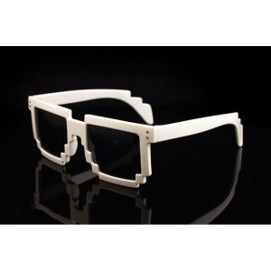 Mosaic Pattern Fashion Sunglasses PC Frame Sun Glasses - White,Mosaic Pattern Fashion Sunglasses PC Frame Sun Glasses - White