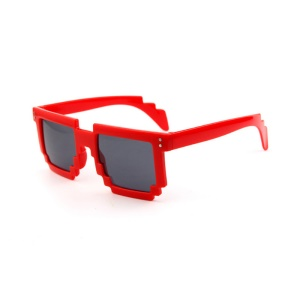 Mosaic Pattern Fashion Sunglasses PC Frame Sun Glasses - Red,Mosaic Pattern Fashion Sunglasses PC Frame Sun Glasses - Red