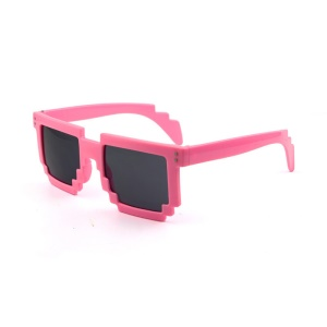 Mosaic Pattern Fashion Sunglasses PC Frame Sun Glasses - Pink,Mosaic Pattern Fashion Sunglasses PC Frame Sun Glasses - Pink