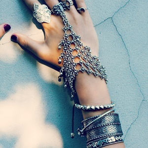 Multi-layer Hand Harness Lady Finger Ring Bracelet Chain
