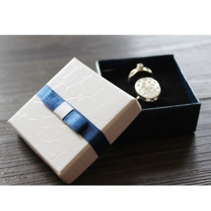 Classic Crocodile Texture Paperboard Ring Ear Studs Jewelry Storage Box