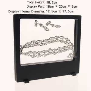 Clear PET Membrane Suspended Floating Jewelry Display Держатель Jewel, размер: 18 x 20 x 2 см - черный