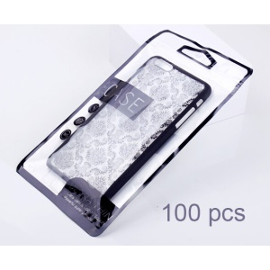 100PCS Universal Mobile Phone Case OPP PVC Package Bag Size: 21.5x12cm - Black