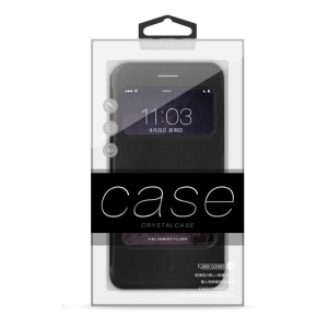 Customizable 50pcs High-end PVC Package Box for iPhone 6/6s Cases (KJ-301) - Black