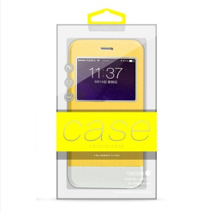 50pcs High-end PVC Package Box for iPhone 6 Plus/6s Plus Case (Customizable) KJ-301 - Yellow