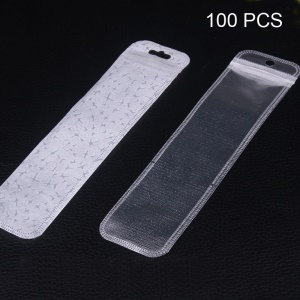 Customizable 100Pcs Packaging Bag for Cables / Xiaomi LED Lamp, Size: 190 x 45mm - White