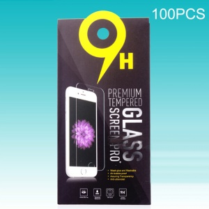 Customizable 100Pcs Paper Packaging Retail Box for Tempered Glass Screen Protector - Black
