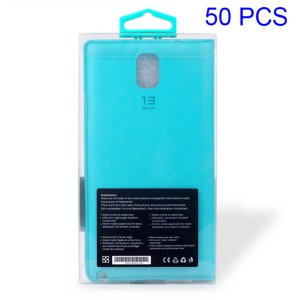Customizable 50Pcs Clear PVC Package Box for Mobile Phone Cases, Size: 155 x 85 x 18mm - Blue Hook