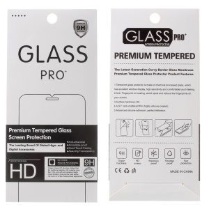 100Pcs/Set Tempered Glass Screen Protector Package for iPhone / Samsung, Size: 185 x 85mm - White
