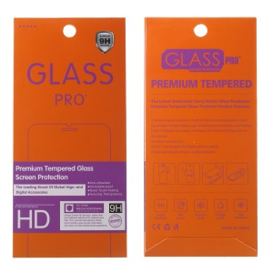 100Pcs/Set Tempered Glass Screen Protector Package for iPhone / Samsung, Size: 185 x 85mm - Orange