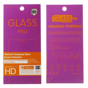 100Pcs/Set Tempered Glass Screen Protector Pack for iPhone / Samsung, Size: 185 x 85mm - Purple