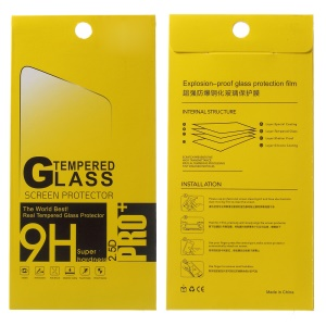 100Pcs/Set Tempered Glass Screen Film Paper Package Box for iPhone 6s Plus, Size: 175 x 85mm - Yellow