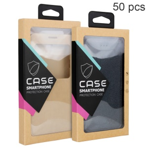 Customizable 50Pcs/Set Kraft Paper Package Box for iPhone 6s / Samsung Galaxy J5 Cases - Black
