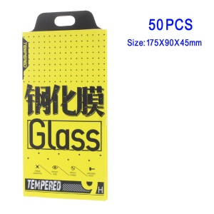 50 Pcs/Lot Book Style Tempered Glass Screen Protector Paper Packaging Box for Samsung Galaxy Note 7 - Yellow