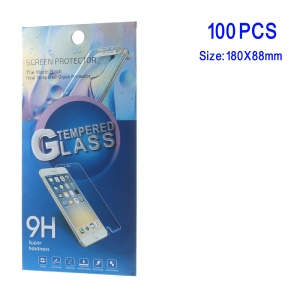 100Pcs/Lot Tempered Glass Protector Retail Paper Packaging Case for Samsung Galaxy Note 7 N930 - Blue