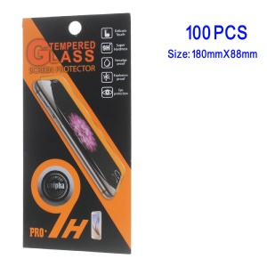 100Pcs/Set Universal Cellphone Tempered Glass Screen Guard Packaging, Size: 180 x 88mm - Style B