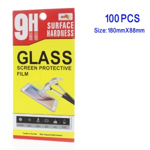 100Pcs/Set Universal Retail Packing Box for Cellphone Tempered Glass Screen Protector - Style C