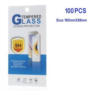 100Pcs/Set Cellphone Tempered Glass Screen Film Packing Retail Box, Size: 180 x 88mm - Style H