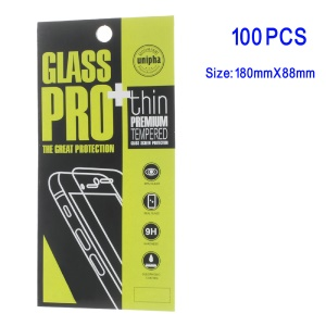 100Pcs/Set Universal Packing Package Box for Cellphone Tempered Glass Screen Film - Style J