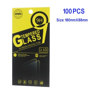 100Pcs/Set Package Box for Cellphone Tempered Glass Screen Film, Size: 180 x 88mm - Style K
