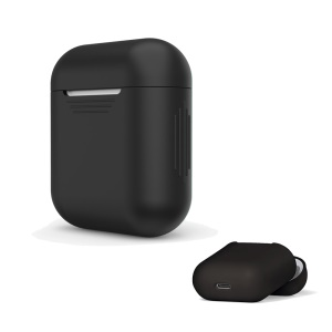 LANKILIN Shock-proof Silicone Protective Cover for Apple AirPods Charging Case - Black