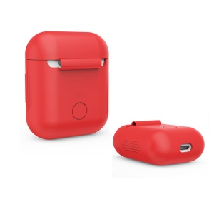 LANKILIN Silicone Shock-proof Protective Cover for Apple AirPods Charging Case - Red