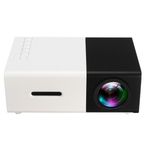 YG300 Mini Portable 1080P HD LED Projektor Mit PC Laptop USB / TF / AV / HDMI Eingang - EU-Stecker