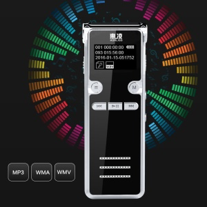 906 8G Mini Digital Voice Recorder Long Time Recording Dictaphone Professional MP3 Player - Black