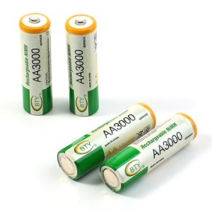 4PCS BTY 1.2V 3000mAh AA Ni-MH Rechargeable Batteries