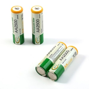 4PCS BTY 1.2V 2500mAh AA Ni-MH Rechargeable Batteries