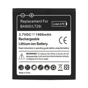 BA900 1900mAh Battery Replacement for Sony Xperia GX LT29i Hayabusa / E1 D2004 D2005