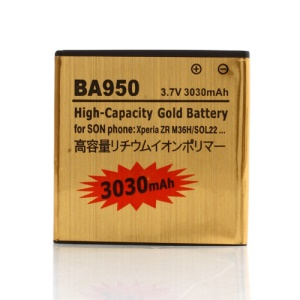 3030mAh BA950 Battery Replacement for Sony Xperia ZR M36h C5503 C5502