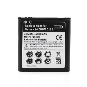 Replacement Li-ion Battery for Samsung Galaxy S4 Zoom SM-C1010, 2800mAh