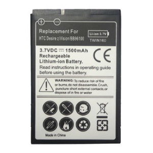 1500mAh Mobile Phone Battery for HTC Desire Z / T-Mobile G2 / 7 Mozart, BB96100