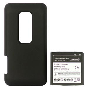 HTC EVO 3D Extended Battery Replacement with Special Battery Door Cover (3500mAh)