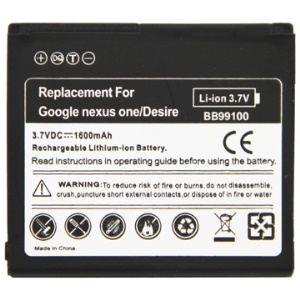 1600mAh BB99100 Cell Phone Battery for HTC Google Nexus One(G5)/ Desire (G7)